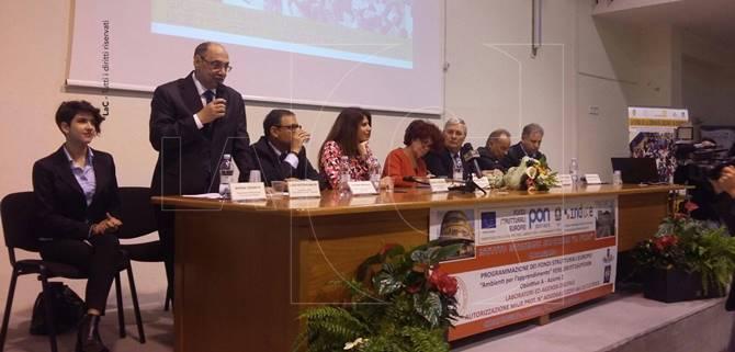 Il ministro dell'Istruzione Valeria Fedeli a Catanzaro
