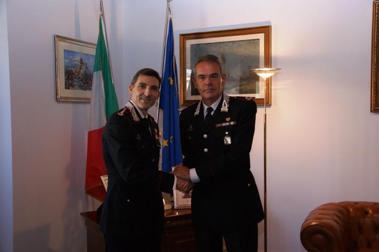 Carabinieri, il saluto ufficiale per il trasferimento di alcuni ufficiali