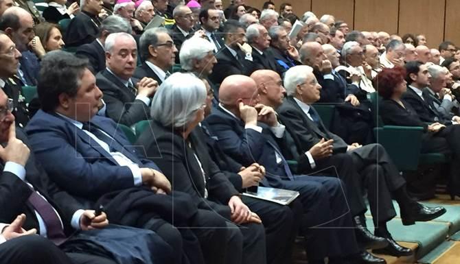 Il presidente della Repubblica, Sergio Mattarella all'Unical per l'inaugurazione dell'anno accademico