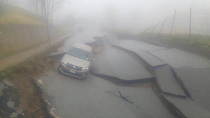 La strada crollata a Girifalco