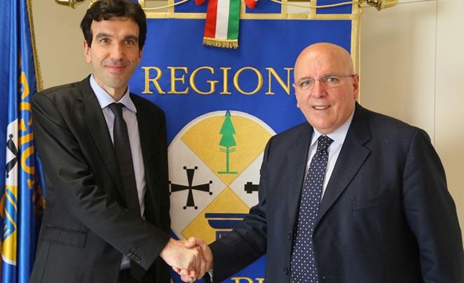 Il ministro Martina con il governatore Oliverio