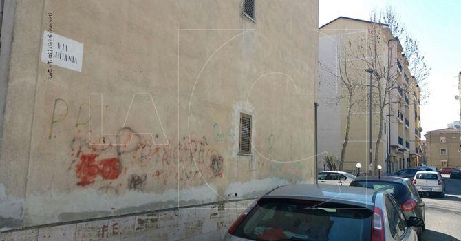Il luogo dell'accoltellamento a Cosenza