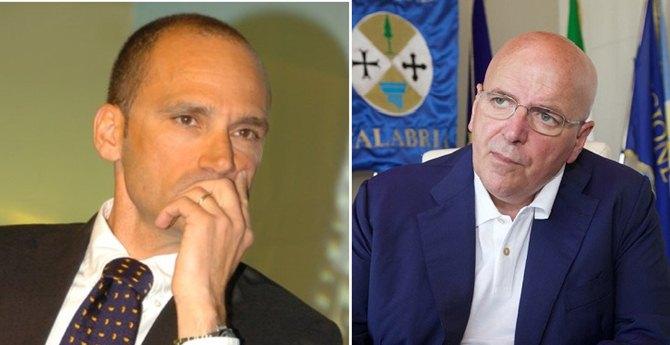 Il presidente della Sacal, Massimo Colosimo e il presidente della Regione, Mario Oliverio