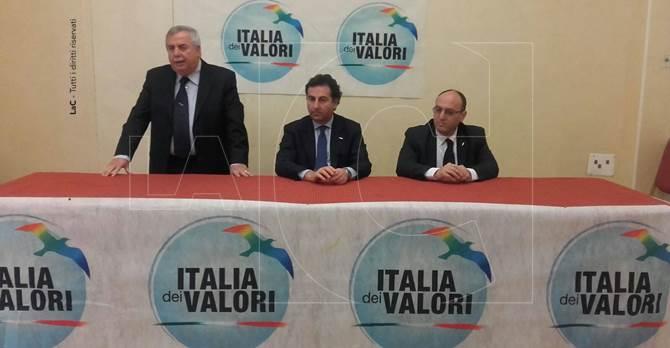 La conferenza stampa di Italia dei Valori a Lamezia