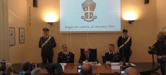 La conferenza stampa alla Procura di Reggio Calabria