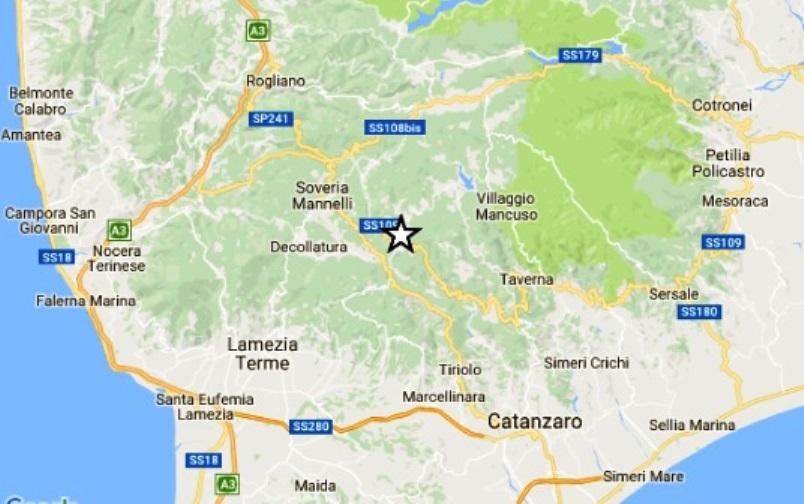 Terremoto, scossa di magnitudo 3.4